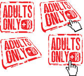 Adults only — Stock Vector