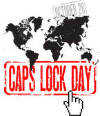 October 28 - world caps lock day — Stock Vector
