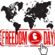 Stock Vector: World freedom day