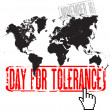 Day for tolerance — Stock Vector