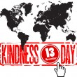 World kindness day — Stok Vektör