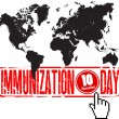 Immunization day — Stock Vector