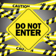 Do not enter — Stock Vector #7495421