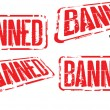 Banned — Stock Vector