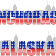 Anchorage, Alaska — Vector de stock #7495439