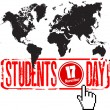 World students day — Stock Vector