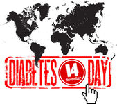 World diabetes day — Stock Vector