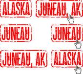 Alaska, Juneau — Stock Vector