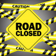 Road closed - Stock Vector