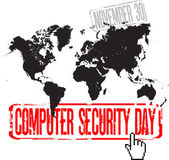Computer security day — Stock Vector