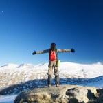 Embracing snow mountains — Stock Photo