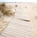 Footbridge at Lances beach — Stock Photo