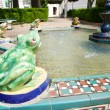 Fountain with frogs at Tarifa village — Stock Photo