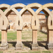 Ancient cloister ruins — Stock Photo