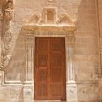 Close carved door — Stock Photo
