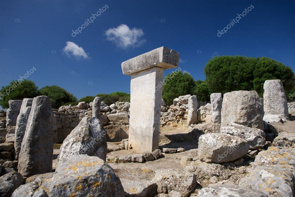 Torralba den Salord prehistoric town at Menorca Island in Spain  Stock Photo #6857286