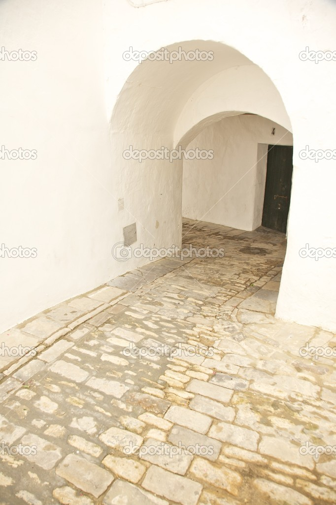 Street at Vejer village in Cadiz Andalusia Spain — Stock Photo #6857343