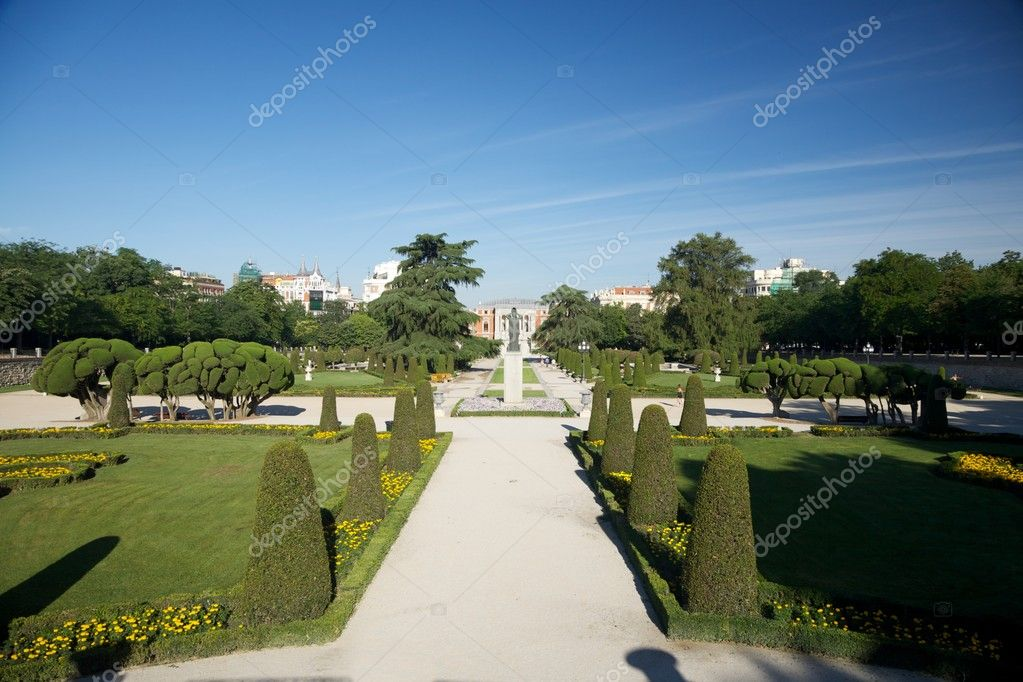 Detail of El Retiro public park at Madrid Spain  Stock Photo #6857370