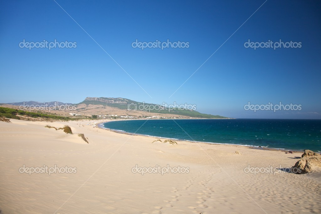 Beach of Bolonia at Cadiz Andalusia in Spain — Stock Photo #6857512