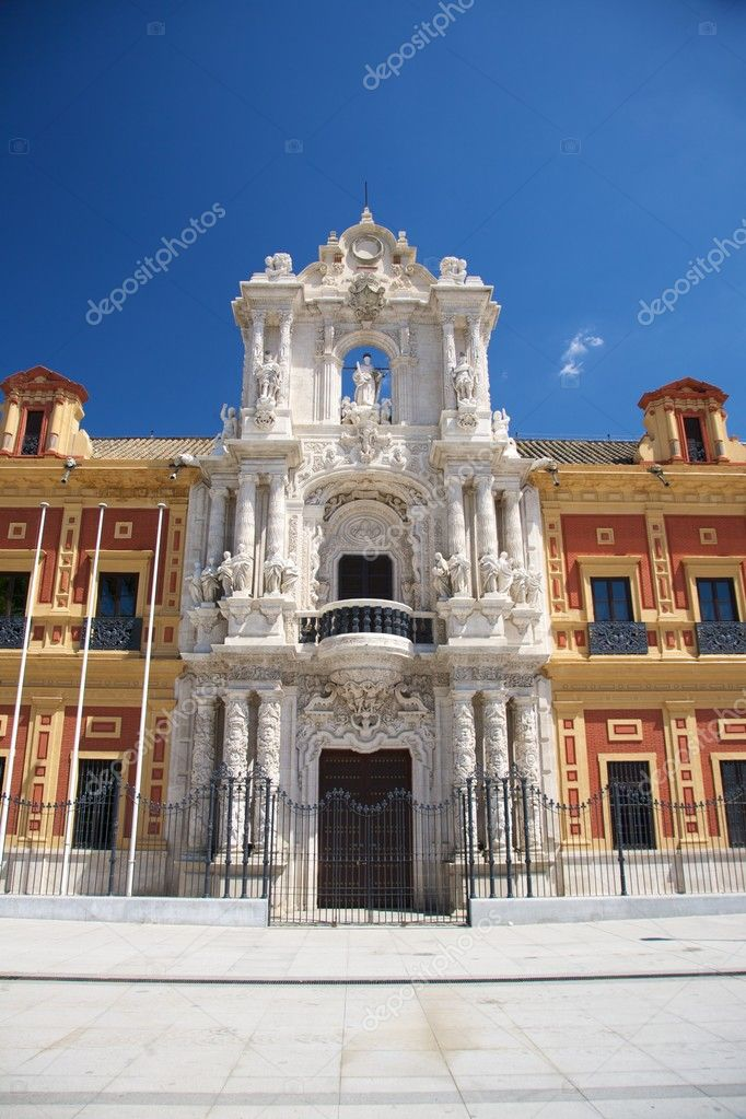 Public building at Seville city Andalusia in Spain — Stock Photo #6857891