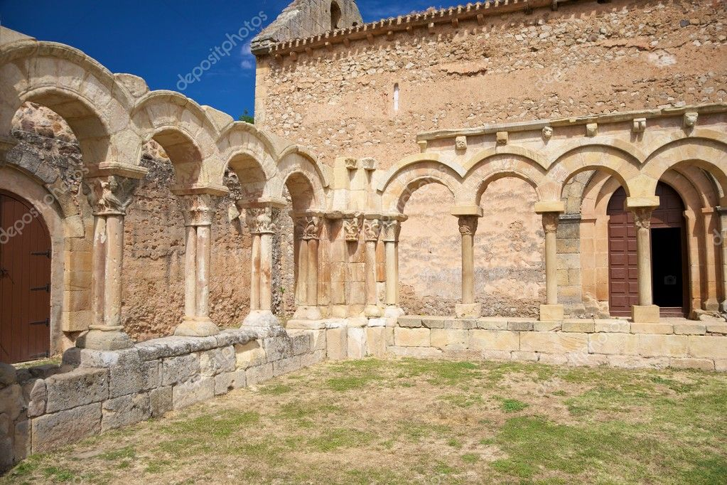 Public ancient San Juan cloister ruins at Soria in Castilla Spain  Stock Photo #6858122