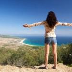 abrazando la playa de bolonia — Foto de Stock