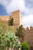 Fortification tower at Almeria castle — Stock Photo