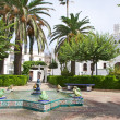 Stock Photo: Public square at Tarifa village