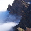 Постер, плакат: Rock wall over clouds at La Palma