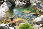 Ready to green natural pool — ストック写真