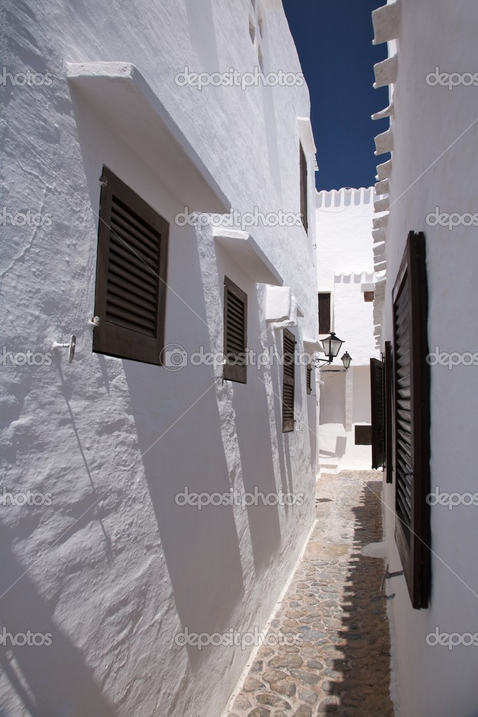 Village of Binibeca at Menorca island in Spain — Stok fotoğraf #6940648