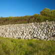 Wall of stones in Menorca - 