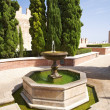 Hexagonal fountain at Almeria castle — Stock Photo