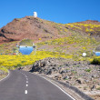 Road next observatories at La Palma — Stock Photo