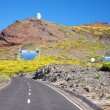 Royalty-Free Stock Photo: Road next observatories at La Palma