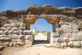 Door of Empuries ancient city — Stock Photo