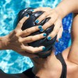Hands on plastic cap — Stock Photo #7278608