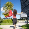 Happy fast shopping woman — Stock Photo #7278618