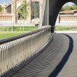 Banisters of footbridge — Stock Photo