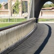 Stock Photo: Banisters of footbridge