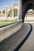 Banisters of footbridge — Stock Photo