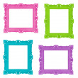 Colorful frames — 图库照片