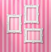 Silver frames — Stock Photo