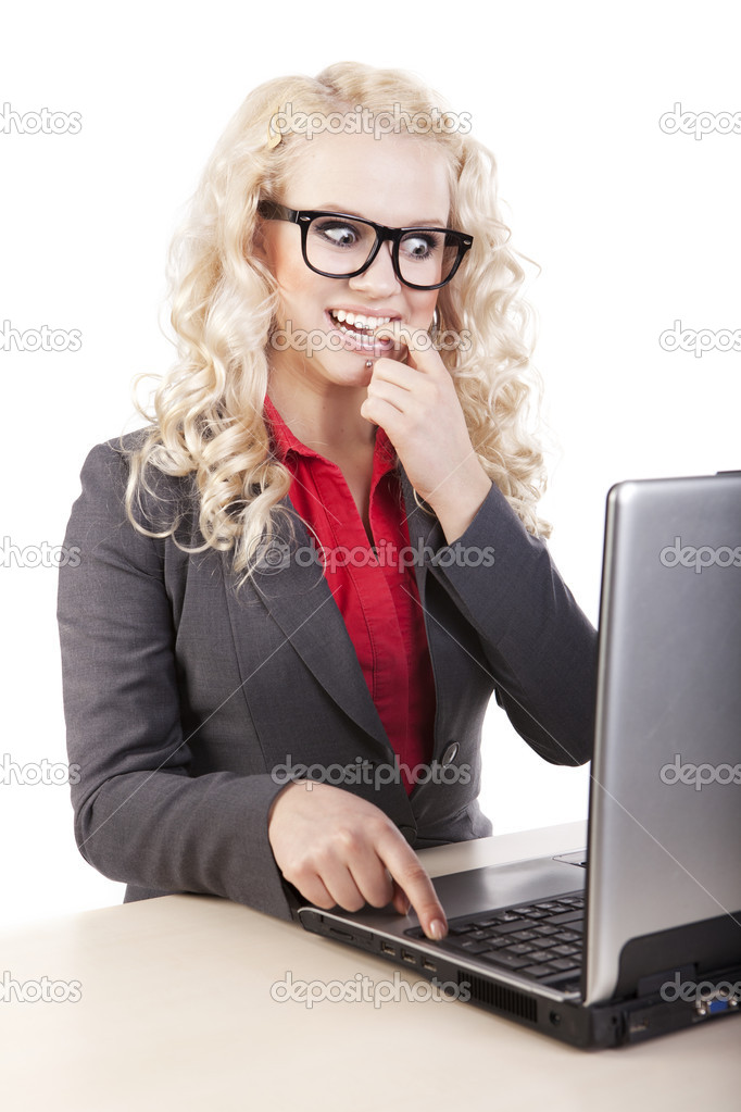 Portrait of a beautiful business woman — Stock Photo #7414480