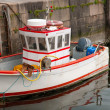 Cute small  fishboat — Stock Photo
