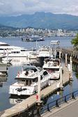 Vancouver bc Kanada nabrzeża & marina. — Zdjęcie stockowe