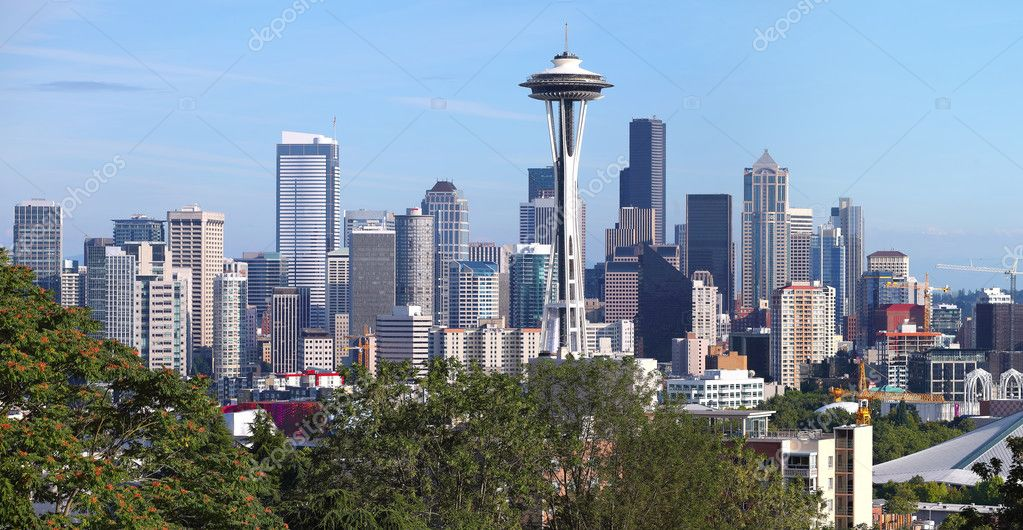 Seattle skyline panorama downtown buildings. — Stock Photo #6819440