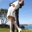 Stock Photo: The Kiss! Unconditional surrender.