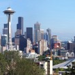 Seattle Washington panorama & Mt. Rainier. — Stock Photo