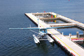 Seaplane parked in Vancouver BC, Canada. — Stock Photo